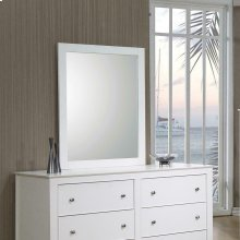 Selena Contemporary White Mirror