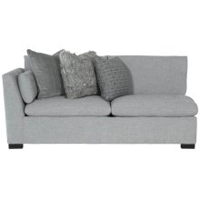 "Serenity Left Arm Loveseat (42-1/2"" D) in Mocha (751)"