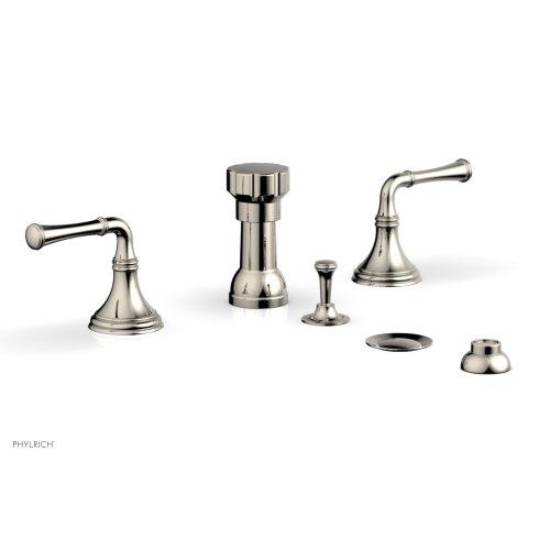 3RING Four Hole Bidet Set D4205 - Polished Nickel