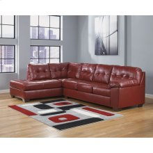 Signature Design by Ashley Alliston with Left Side Facing Chaise Sectional in Salsa DuraBlend