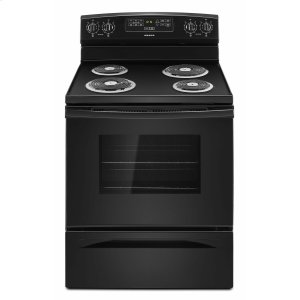 30-inch Electric Range with Bake Assist Temps - Black Product Image