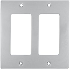 Double Rocker Modern Switchplate in (US26D Satin Chrome Plated) Product Image