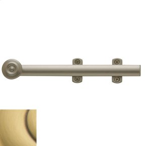 Satin Brass and Brown Decorative Heavy Duty Surface Bolt