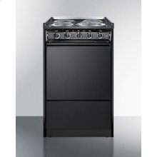 """20"""" Wide Slide-in Electric Range In Black With Lower Storage Compartment; Replaces Tem115r/tem110crt"""