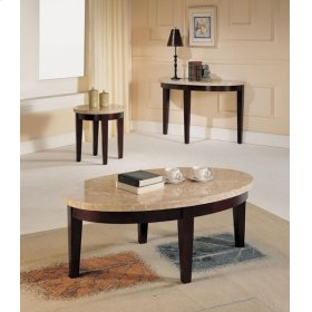 WH MARBLE TOP END TABLE