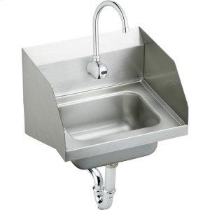 "Elkay Stainless Steel 16-3/4"" x 15-1/2"" x 13"", Single Bowl Wall Hung Handwash Sink Kit Product Image"