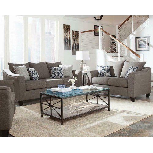 Salizar Transitional Grey Two-piece Living Room Set
