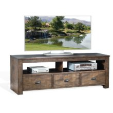 """Homestead 74"""" TV Console w/ 3 Drawers"""