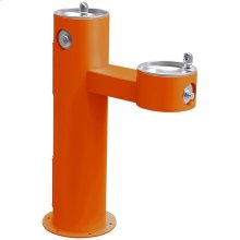 Elkay Outdoor Fountain Bi-Level Pedestal Non-Filtered, Non-Refrigerated Freeze Resistant Orange