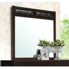 Carlton Black Upholstered Dresser Mirror Product Image