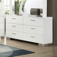 Felicity Contemporary Six-drawer Dresser Product Image