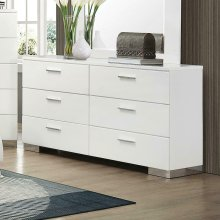 Felicity Contemporary Six-drawer Dresser