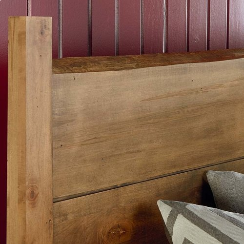 Bench*Made Maple Uph Panel Headboard Queen