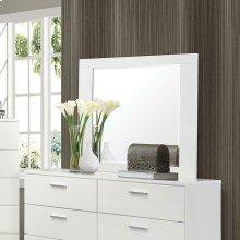 Felicity Glossy White Dresser Mirror
