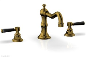 HENRI Deck Tub Set - Marble Lever Handles - 161-42 - French Brass Product Image