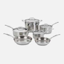 Chef's Classic Stainless 10 Piece Set