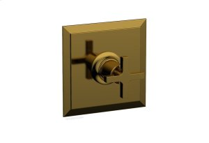 "HEX MODERN 3/4"" Thermostat 4-103 - French Brass Product Image"