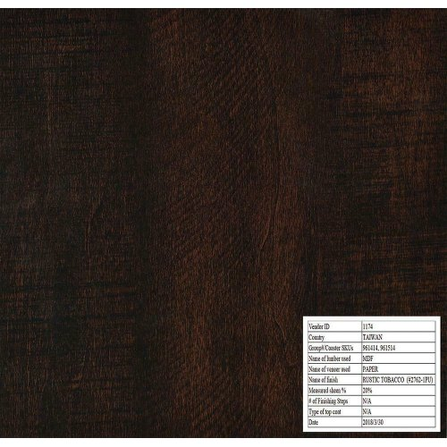 Rustic Tobacco Three-panel Screen