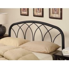 Traditional Black Queen/full Headboard With Arches