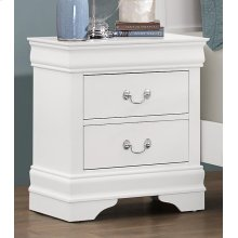 Bianco White LP 2 Drawer Nightstand