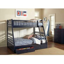 Ashton Navy Twin-over-full Bunk Bed