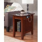 Nantucket Chair Side Table with Charger Walnut Product Image