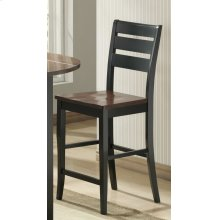 Ridgewood Black and Cherry Counter Stool