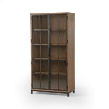 Keene Cabinet-drifted Oak/waxed Black