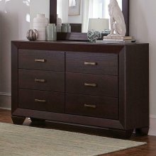 Fenbrook Dark Cocoa Six-drawer Dresser