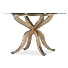 Dining Room Curvee Pedestal Dining Table Base w/top plate
