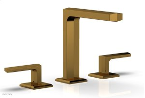 "DIAMA Widespread Faucet - Lever Handles 6-3/4"" Height 184-02 - French Brass Product Image"