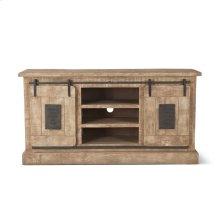 """Steel City Plasma Cabinet 64"""" Antique Oak with Sliding Wooden Door"""