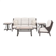 Marsh Creek - Brown 5 Piece Patio Set (Sofa / Chair / Coffee Table and  2 End Tables)