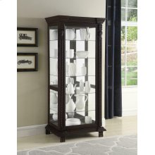 Traditional Brown Curio Cabinet