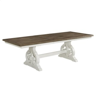 "Table, 40 x 76 Trestle, 22"" Storing Leaf"