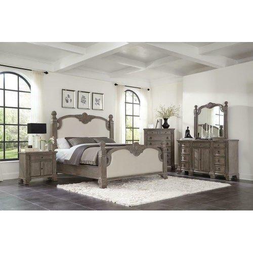 Jenna Vintage Grey Queen Bed