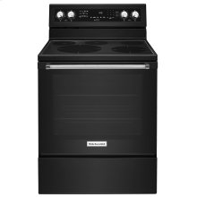 30-Inch 5-Element Electric Convection Range Black