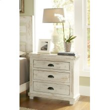 Nightstand - Distressed White Finish