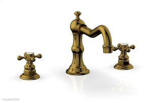 HENRI Deck Tub Set - Cross Handle 161-40 - French Brass Product Image