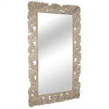 Sophia Carved Mirror White