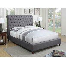 Devon Grey Upholstered California King Bed