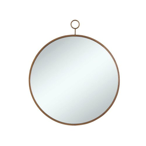 Round, Gold Mirror