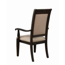 Whitney Traditional Beige and Burnished Black Armchair