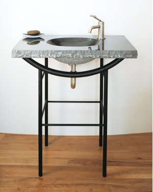 Integral Sink Blue Gray Granite Product Image