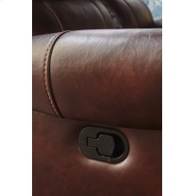 Stanley Mahogany Brown Leather Gel Dual Reclining Sofa
