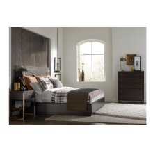 Austin by Rachael Ray Panel Bed w/ Brass Finish Wood Accents Queen 5/0