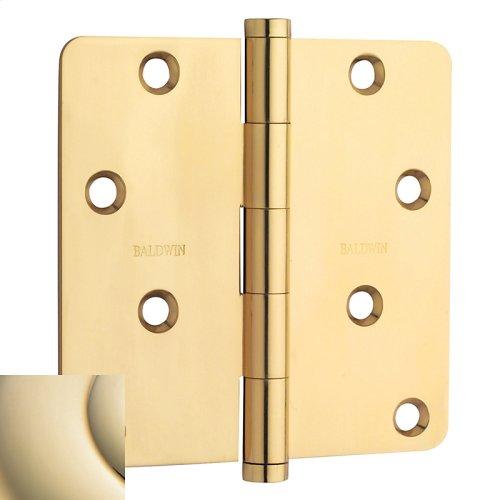 "Lifetime Polished Brass 1/4"" Radius Corner Hinge"