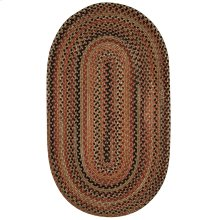 Homecoming Chestnut Brown Braided Rugs (Custom)