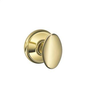 Siena Knob Hall & Closet Lock - Bright Brass Product Image