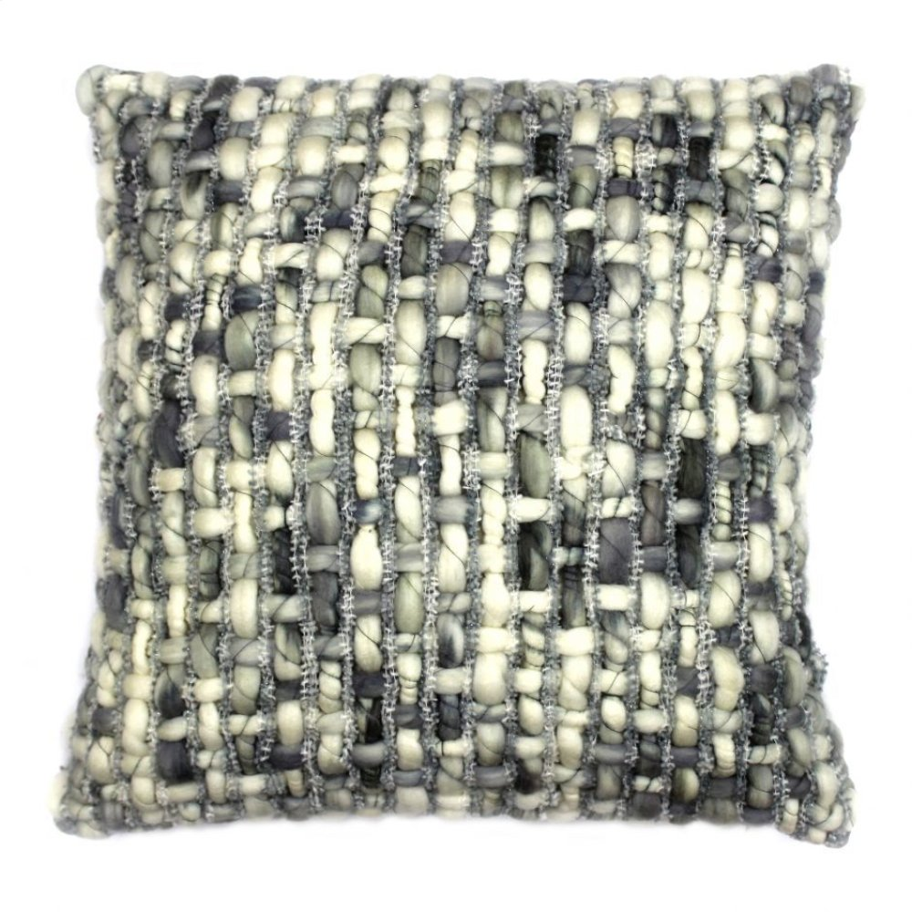 Cozy Feather Cushion Light Grey 20x20
